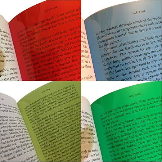 Dyslexics Using Iphone As Reading Aid >> A4 Coloured Overlays Dyslexia Visual Stress Reading Aid Sheets Pack Of 4