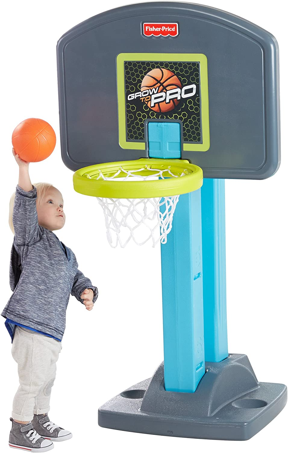Amazon.com: Fisher-Price Grow-to-Pro Basketball: Toys & Games