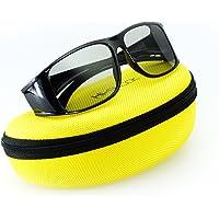 Hi-SHOCK® universel lunettes 3d passive pour tous passive 4k 3D TVs & RealD cinéma films. haute qualité polarisée lunettes pour Sony®, LG®, Hisense®, Grundig®, Pansonic®, Philips®, Toshiba® TV. Compatible avec LG 3D cinema, Philips Easy 3D, Toshiba 3D natural, Vizio | compatible avec TY-EP3D20E / Sony TDG500P / LG AG-F315 inkl. Case [ 3D passive | étui ]