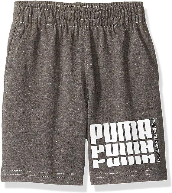 PUMA - Pantalones Cortos de algodón para niños pequeños - Gris - 4 ...