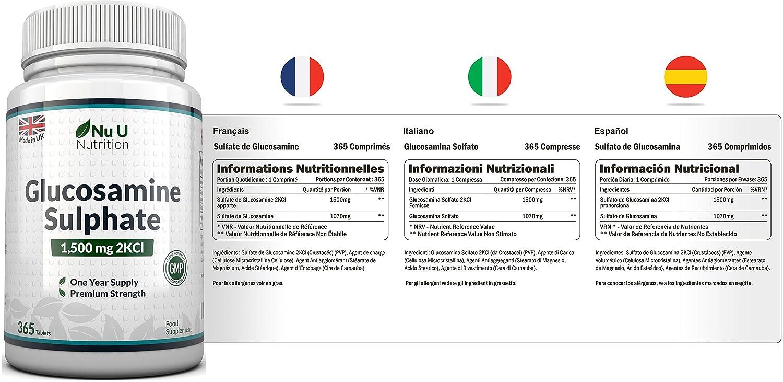 ... 365 comprimidos (Suministro Para 1 Año) | Alta Potencia | Fabricado en el Reino Unido por Nu U Nutrition.: Amazon.es: Salud y cuidado personal