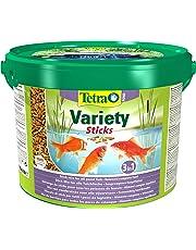 Tetra Pond Variety Sticks Fish Food, Mix of Three Different Food Sticks for All Pond Fish, 10 Litre
