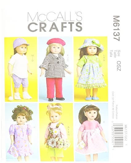 Amazon McCall's Patterns M40 Doll Clothes For 40Inch 40cm Impressive Pattern Def