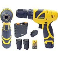 Cheston Cordless Drill Screwdriver Driver with 2 batteries and LED Torch