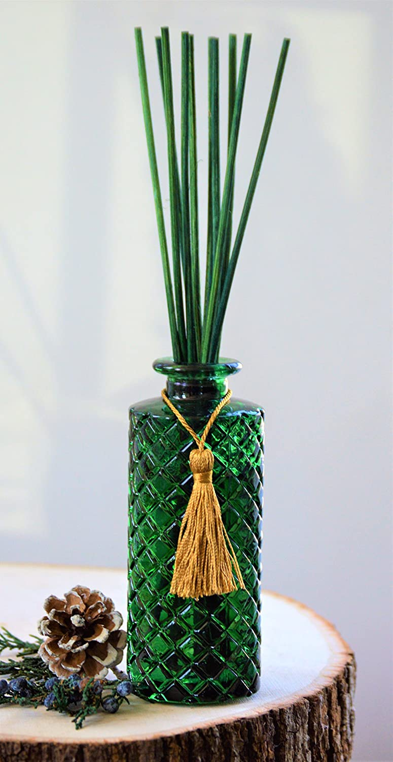 Holiday Sale Manu Home Forest Pine Reed Series Hawaii Breeze 200ml Diffuser Set Includes Beautiful Green Glass And Two Sets Of Sticks Natural 55 Oz