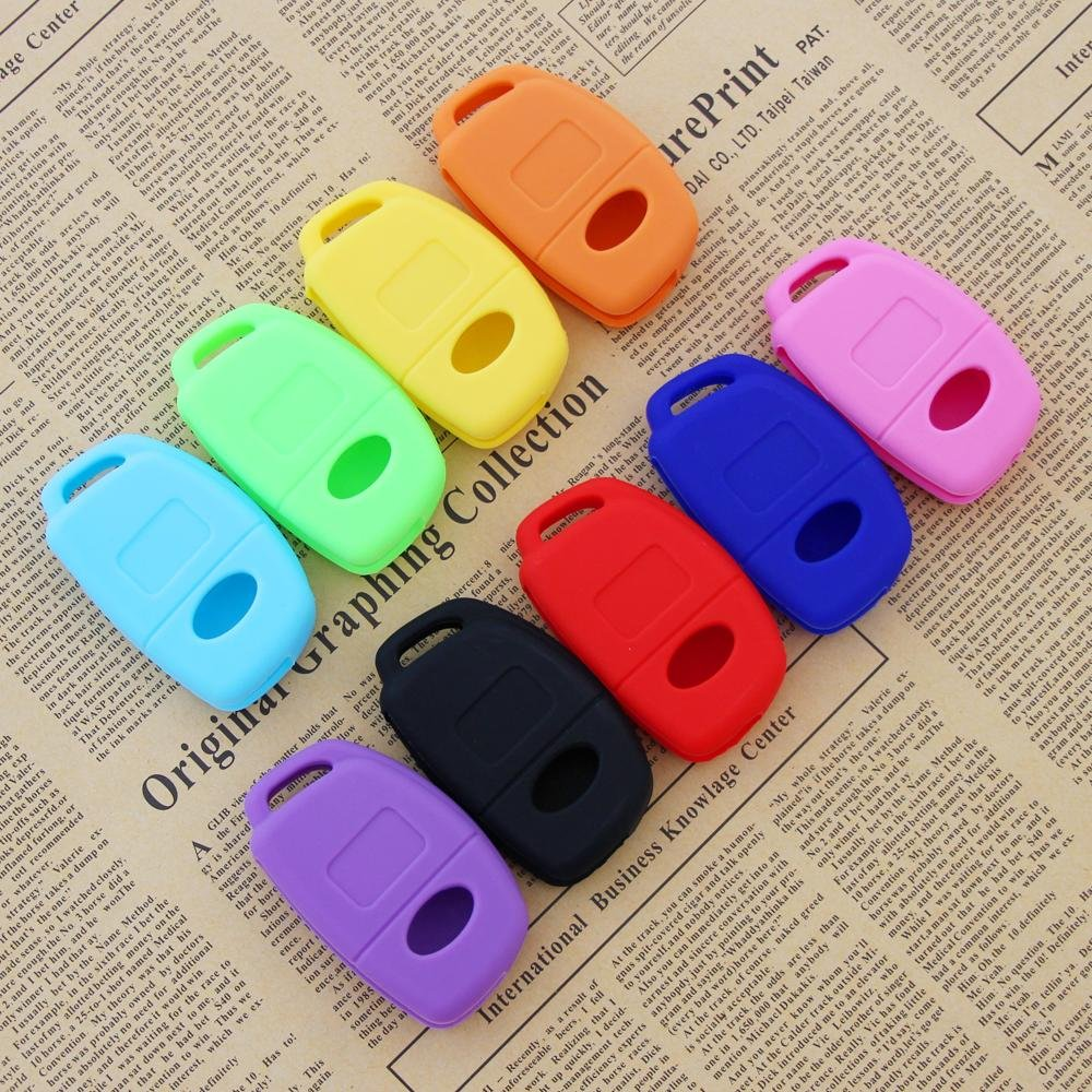 JessicaAlba 3 Buttons Remote Skin Jacket Silicone Cover KEY Case Holder BAG Key Fob Skin Covers replacement for Hyundai i30 IX25 IX35 IX45 Santa Fe Elantra Accent 4333167093
