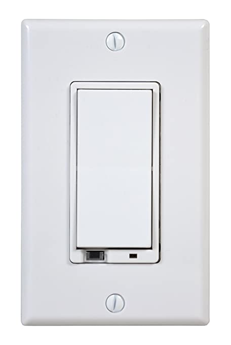 GoControl WD500Z-1 Z-Wave 500-Watt Wall-Mount Dimmer Switch - Wall ...
