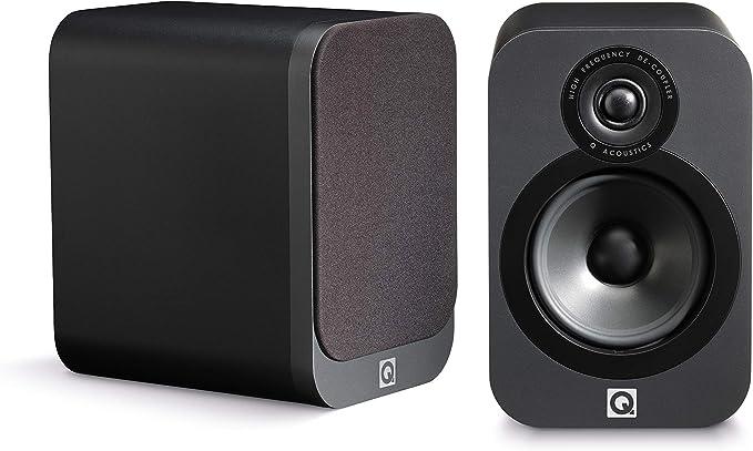 Q Acoustics 3020 25W Grafito Altavoz - Altavoces (De 2 vías, 2.0 Canales, Alámbrico, 25 W, 64-22000 Hz, Grafito)