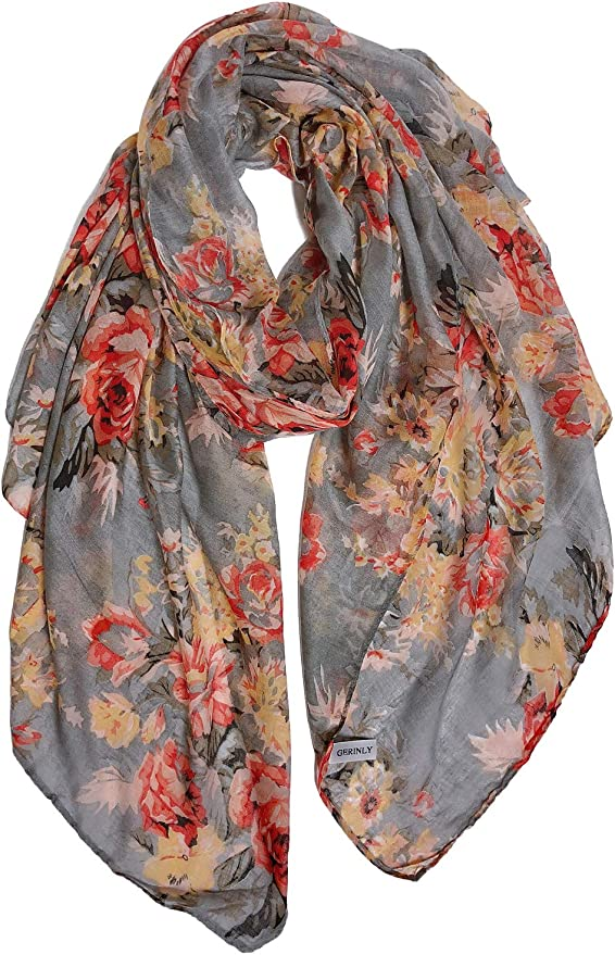 Yours Clothing Womens Plus Size Lightweight Floral Scarf