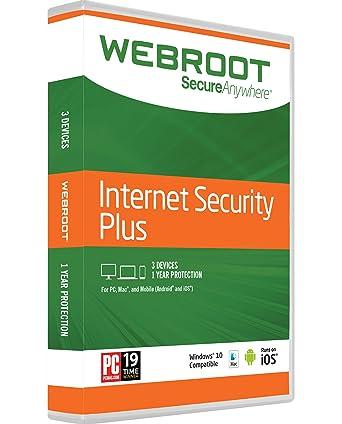 Amazon.com: Webroot Internet Security Plus + Antivirus 2017 | PC ...