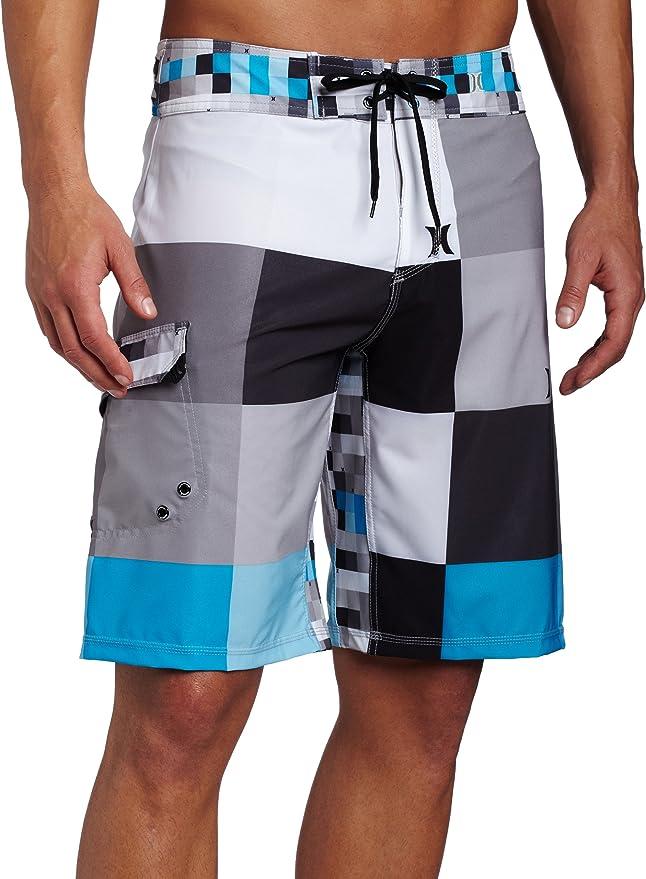 SARA NELL Mens Swim Trunks Tiger Face Animal Black and White Surfing Beach Board Shorts Swimwear