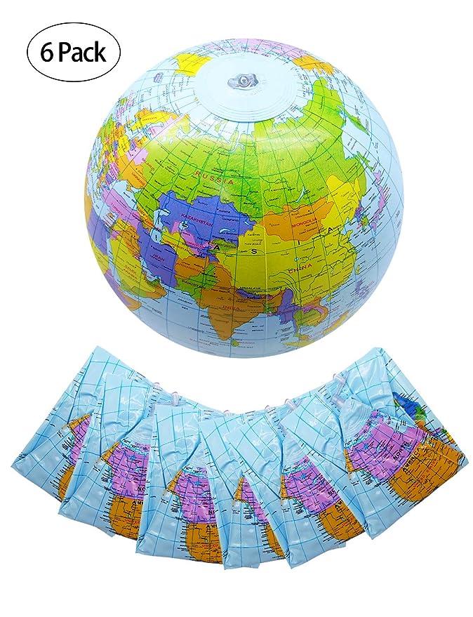 Amazon.com: Sharlity - Paquete de 6 bolas de playa inflables ...