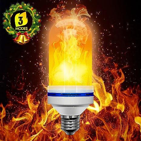 LED Bombilla de Llama,Beexcellent Tres Efectos deIluminación Led llama Bulbos Parpadeo E26/E27