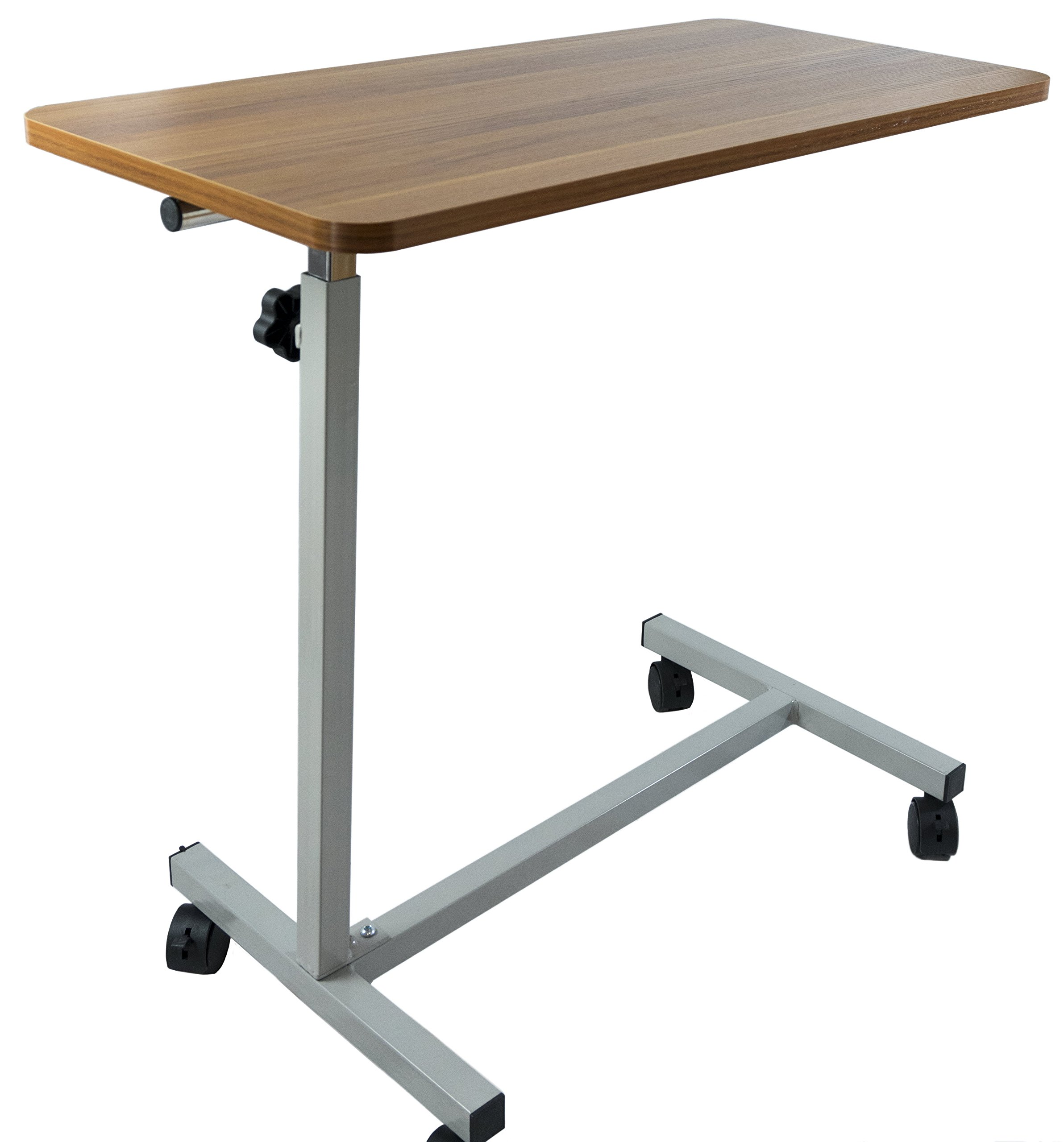 Adjustable Overhead Table - Portable Desk Table for Reading, Writing, Eating - for Elderly, Handicap, Disabled, Or Bedridden Patients
