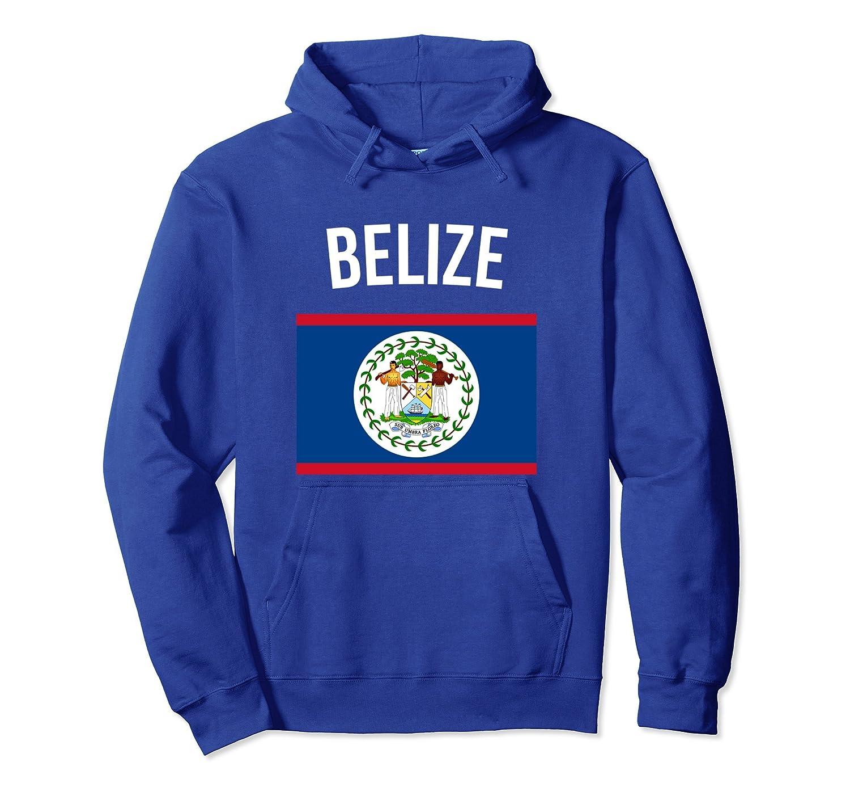 Belize Flag Belizean Hoodie Belize Hooded Sweatshirt-Bawle