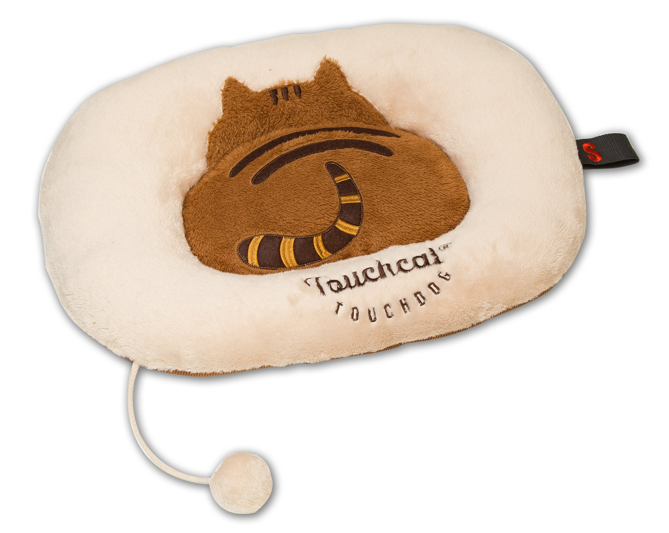 Touchcat 'Exquisite-Plush' Premium Kitty Fashion Designer Pet Cat Bed Lounger Mat Lounge, Small, Brown