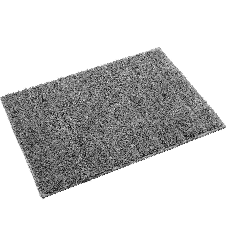 U'Artlines Floor Mat/Cover Floor Rug Indoor/Outdoor Area Rugs, Washable Garden Office Door Mat,Kitchen Dining Living Bathroom Pet Entry Rugs with Non Slip Backing (20x32'', Grey)