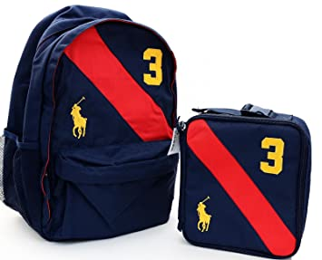 Polo Ralph Lauren Boys School Backpack Sports Gym Bag Lunchbox