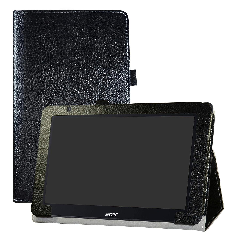 LFDZ Acer One 10 S1003 Custodia, Slim Ultra Pelle Sottile e Leggera Cover Case Custodia per 10.1' Acer One 10 S1003 Tablet,Nero