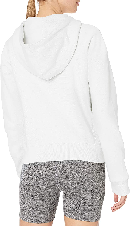 Champion Damen Reverse Weave Full Zip Hood Kapuzenpulli Weiß