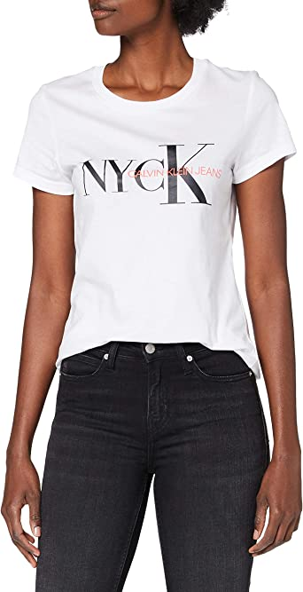 Calvin Klein Nyck Classic Slim tee Camisa para Mujer