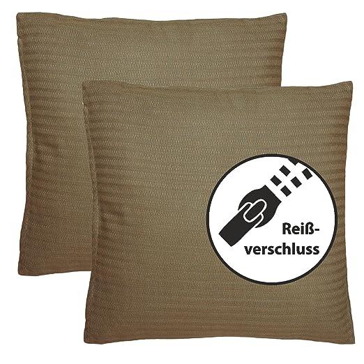 Conjunto de 2 almohada, cojín del sofá 45x45 cm, 100 ...