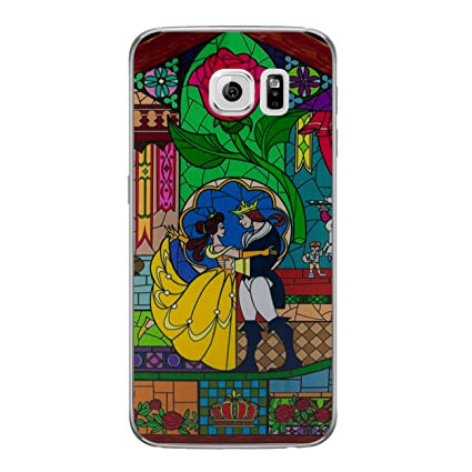 sports shoes cba08 e5118 Galaxy S6 Beauty and the Beast Rose Silicone Phone Case/Gel Cover for  Samsung Galaxy S 6 (S6/G920)/Screen Protector & Cloth/iCHOOSE/Stained Glass  - ...