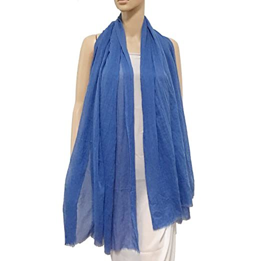7a80dda3fd437 Womens Long Scarf in Solid Color Large Sheer Shawl Wraps for Evening (sky  blue) at Amazon Women's Clothing store: