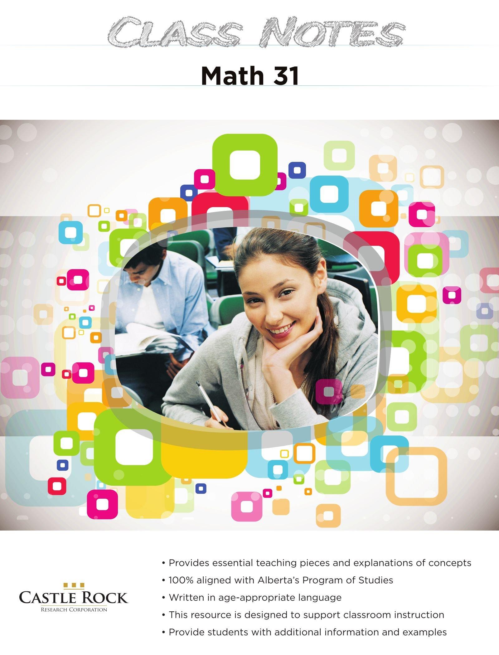 Class Notes Math 31 PDF