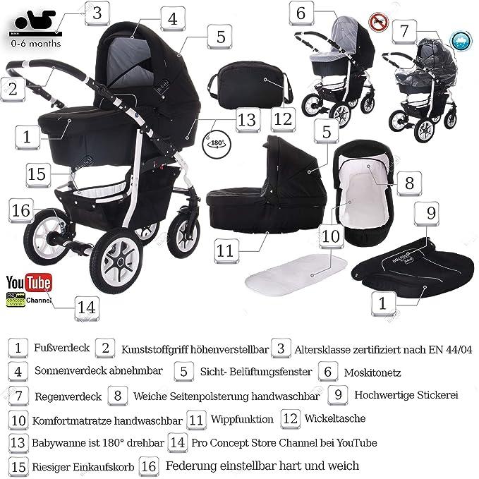 Carrito combinado de bebé 3 en 1 modelo Bellami de Bebebi ...