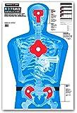 B27-IMZ Human Silhouette - Paper Gun Range Shooting Targets - 25x38 Inch (25 Pack)