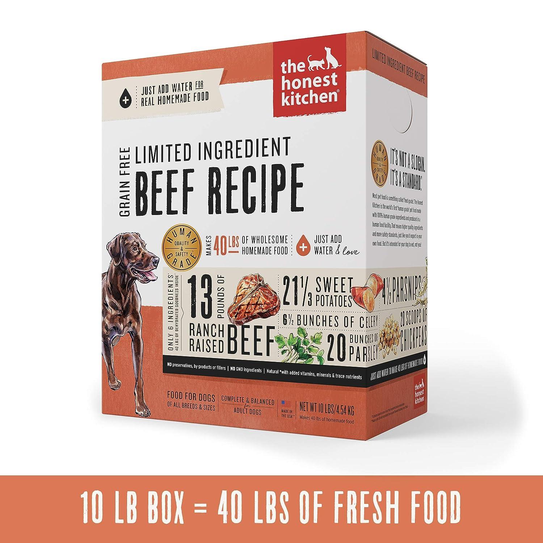 Honest Kitchen Limited Ingredient Beef Dog Food Recipe 10 lb Box - Hope