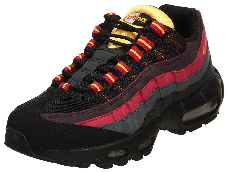 NIKE Men's Air Max 95 Premium Running Shoe B00OC9UDY8 12 D(M) US|Black/Tuscan Rust-Laser Orange