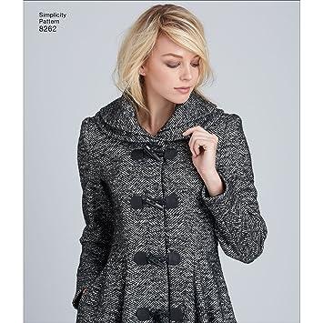 c2c612acb Simplicity 8262 R5 Leanne Marshall Manteau ou Veste pour Femme Patron de  Couture, Blanc, Tailles 14–16–18–20–22