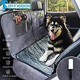 GLAMFIELDS Hundedecke für Auto rückbank, Wasserdicht Waschbar autoschondecke Hund rücksitz, autodecke für Hunde rückbank, Kratzfest rutschfeste autoschutzdecke,mit seitenschutz und Samt