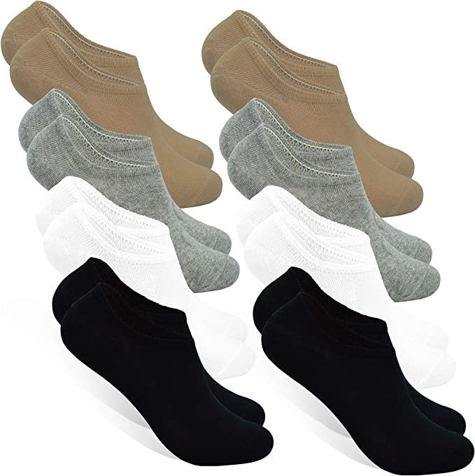 STYLE FOREVER Calcetines Invisibles para Hombres y Mujeres (8 ...