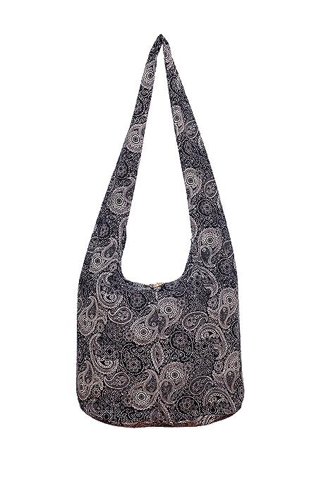 Amazon.com  Avarada Thai Cotton Hippie Hobo Sling Crossbody Bag Messenger  Purse Bohemian Paisley Print  Shoes 7879e0555a3d9