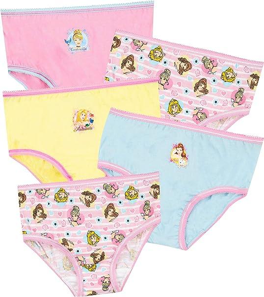 Disney Girls Princess Underwear Pack of 5