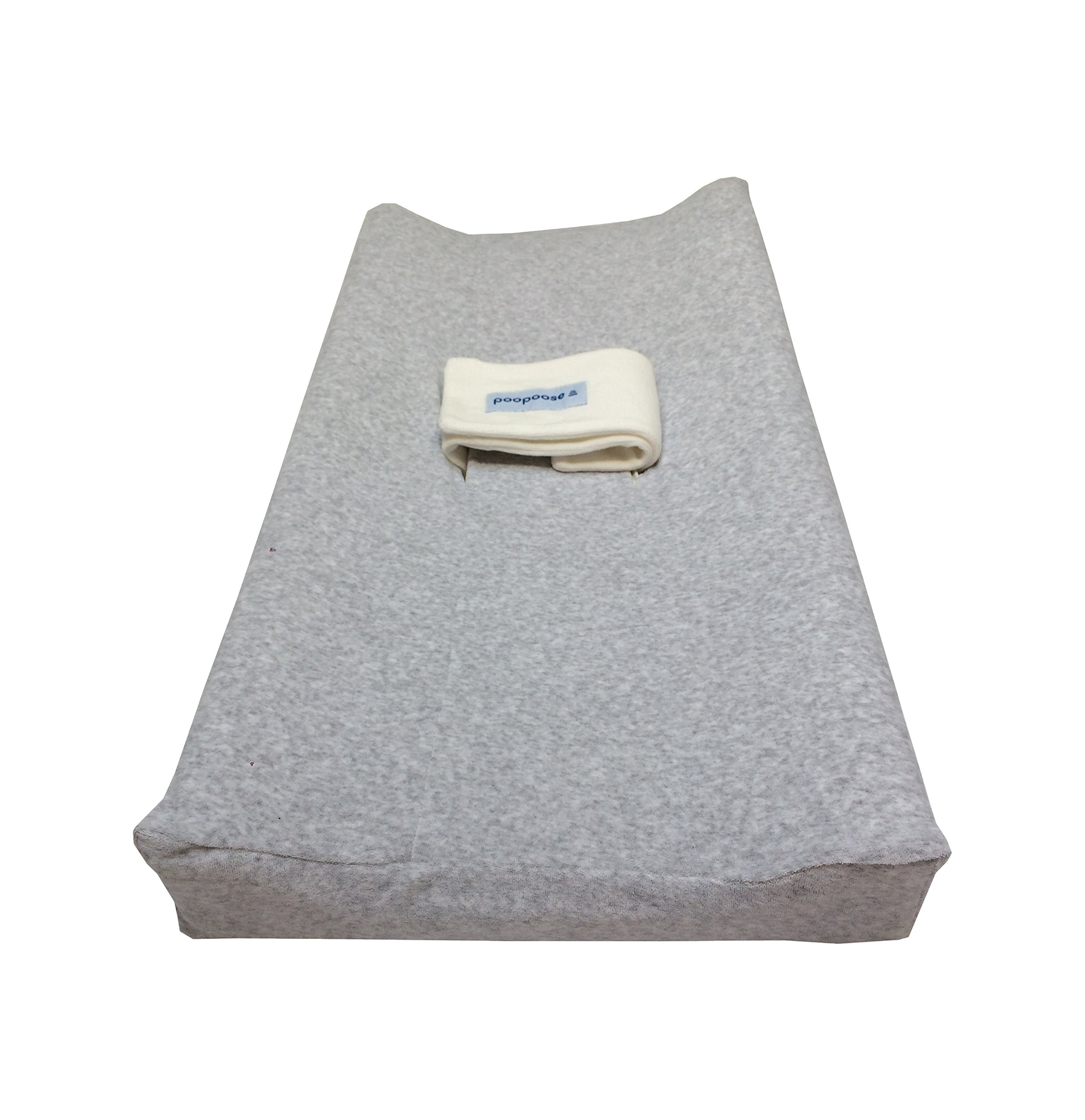 PooPoose Changing Pad Cover (Varsity Grey) by PooPoose