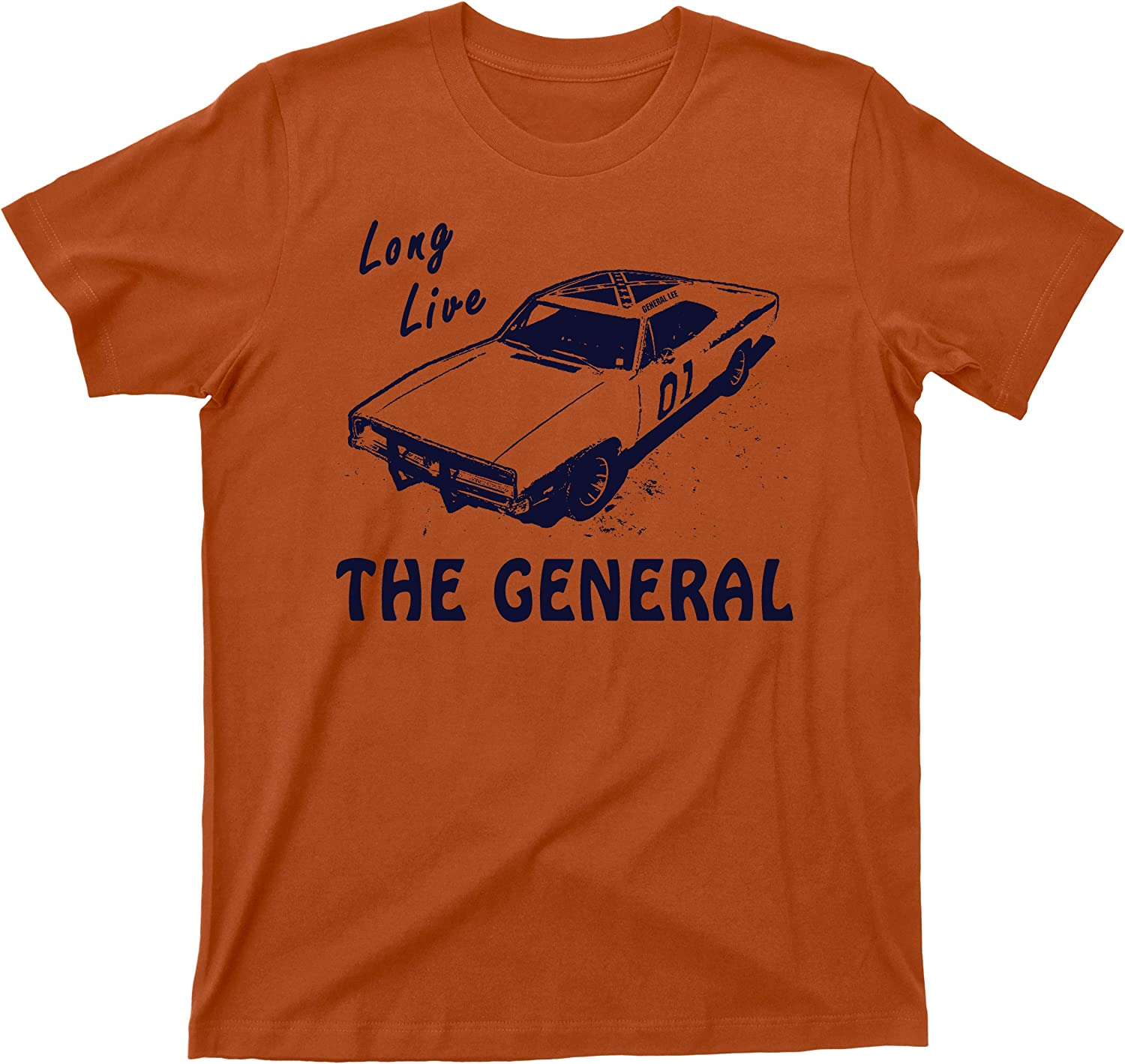 Long Live The General T Shirt 1969 Charger Dukes of Hazzard Tee
