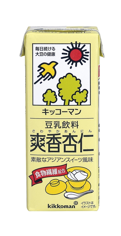 キッコーマンの豆乳飲料シリーズでカロリーが低い方に分類される爽香杏仁味