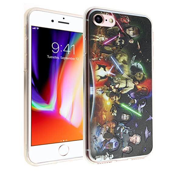 timeless design 06017 59ca1 Star Wars iPhone 7 Case, DURARMOR FlexArmor iPhone 7 Star Wars Characters  Cover Bumper ScratchSafe Rubber TPU Case Drop Protection Cover for iPhone 7  ...