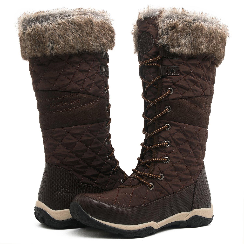 Globalwin Women's YY03 Brown Fashion Snow Boots 7.5M