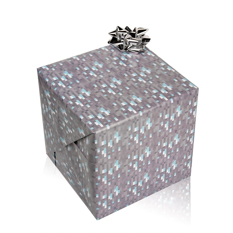 Amazon.com: JINX Minecraft Diamond Wrapping Paper: Toys & Games