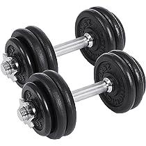 SONGMICS Juego de 2 Mancuernas de Fitness, para Hombres, Discos de ...