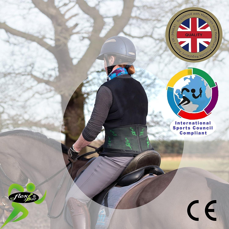 jinete de caballo especialmente diseñado soporte de la espalda. firme estructurado, máxima resistencia inferior de la espalda soporte cinturón. Flujo de aire calor sin sudor. Reforzado con único plást