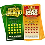 8 Fake Lottery Tickets and Scratch Off Cards that Look Real - Funny Prank Gag Set - Winning $1 Million Lottery Ticket…