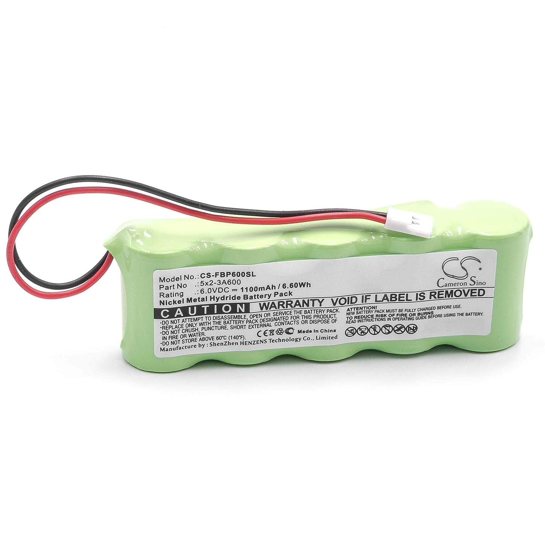 vhbw NiMH bater/ía 1100mAh para medidor como Fluke 5x2-3A600 6V