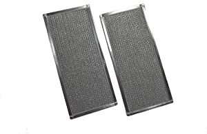 2-Pack Air Filter Factory Compatible Replacement For Whirlpool W10208631, W10208631RP, 2304686, AH3650910, EA3650910, PS3650910, AP5617368 Microwave Oven Grease Filter