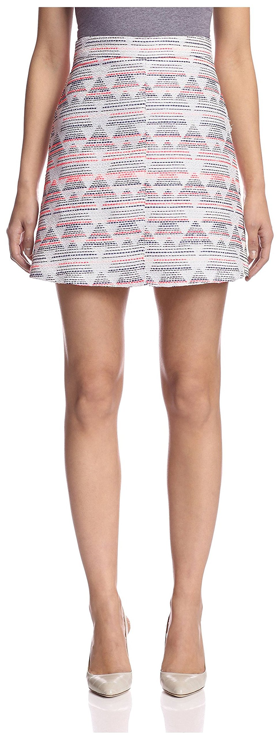 Hutch Women's Jacquard A-Line Skirt, Pink/Multi, 8 US